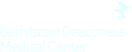 Beth Israel Deaconess Medical Center logo in the color white