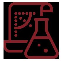 Research laboratory beaker icon